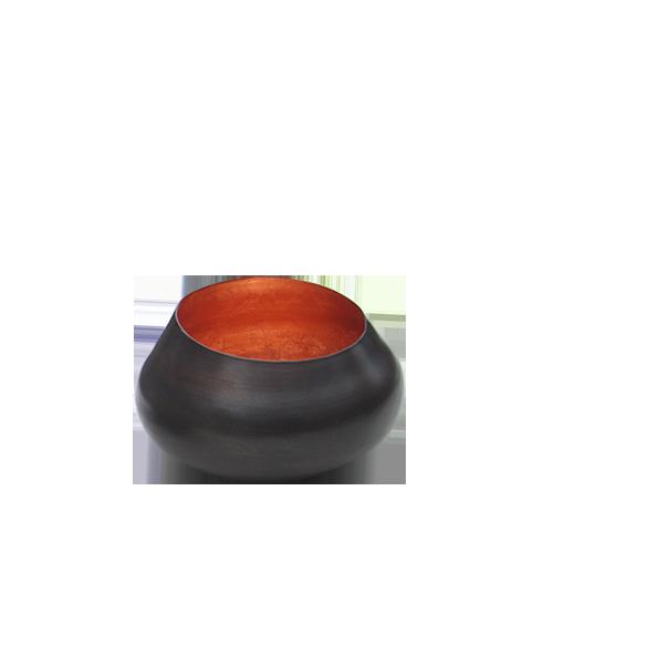 Teelichthalter BELA kupfer/kupfer H 11 x D 11 cm