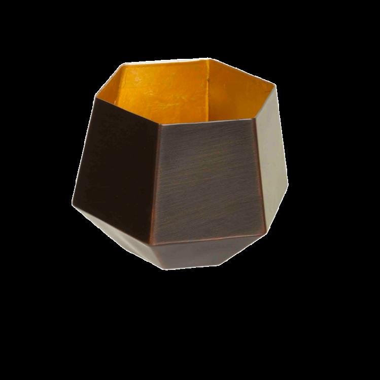Teelichthalter EDDA kupfer/gold