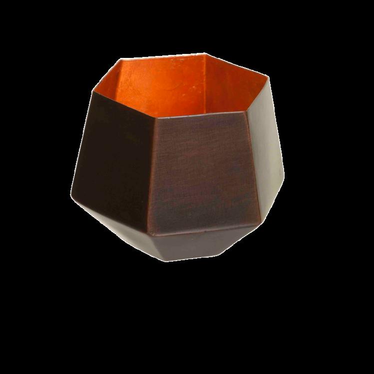 Teelichthalter EDDA kupfer/kupfer
