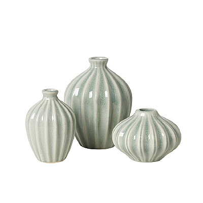 """Vase """"AMALIE"""" chinois green 3er Set"""