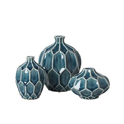 "Vase ""AMALFI"" ocean 3er Set"