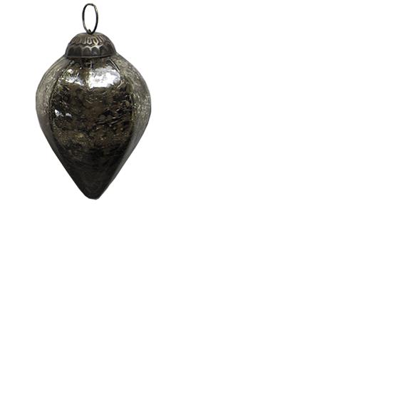 """Weihnachtsschmuck Ornament: """"Drop"""", Tropfen, kupfer-braun 8cm"""
