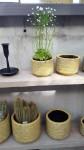 Ü-Topf Marit S, Keramik gelb Blümchendruck  2