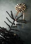 """Weihnachtsbaum Kerzenhalter """"Ball"""", 6er Set, messing  2"""