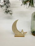 Exner Holz-Mond mit Engel  2