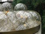 """Christbaumkugel """"Lupa"""", Klarglas, goldene Punkte 8 cm / 6er Box 2"""