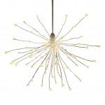 LED Stern Lichterball Funkelfunktion weiß D 24cm 120 LED warmweiß für innen und außen  2