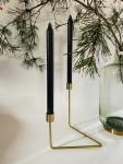 LIV moderner Kerzenhalter gold glänzend  2
