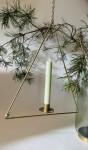 Madam stoltz Kerzenhalter dreieckig messing zum Hängen  2