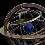 """Globus """"Sphärisch"""" - Bronze Armillary Dial  2"""