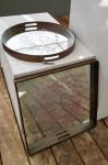 Spiegeltablett Kirschblüte eckig 50x50cm H 4,5cm  2