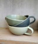 Tasse Keramik hellgrün  2