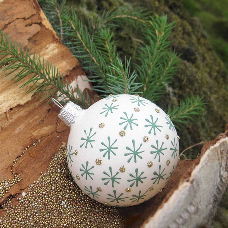 6 christbaumkugeln odila das glashaus for Drescher baumschmuck