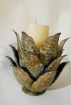 Dekoobjekt Agave gold antik für Kerze  3