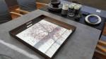 Spiegeltablett Kirschblüte eckig 50x50cm H 4,5cm  3