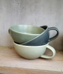 Tasse Keramik rosé rot S  3