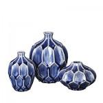 """Vase """"AMALFI"""" taupe grey 3er Set  4"""