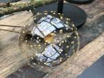 """Christbaumkugel """"Lupa"""", Klarglas-goldene Punkte 10 cm/6er Box 4"""